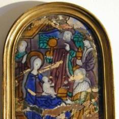 Placa de esmalte con la Adoración de los Magos