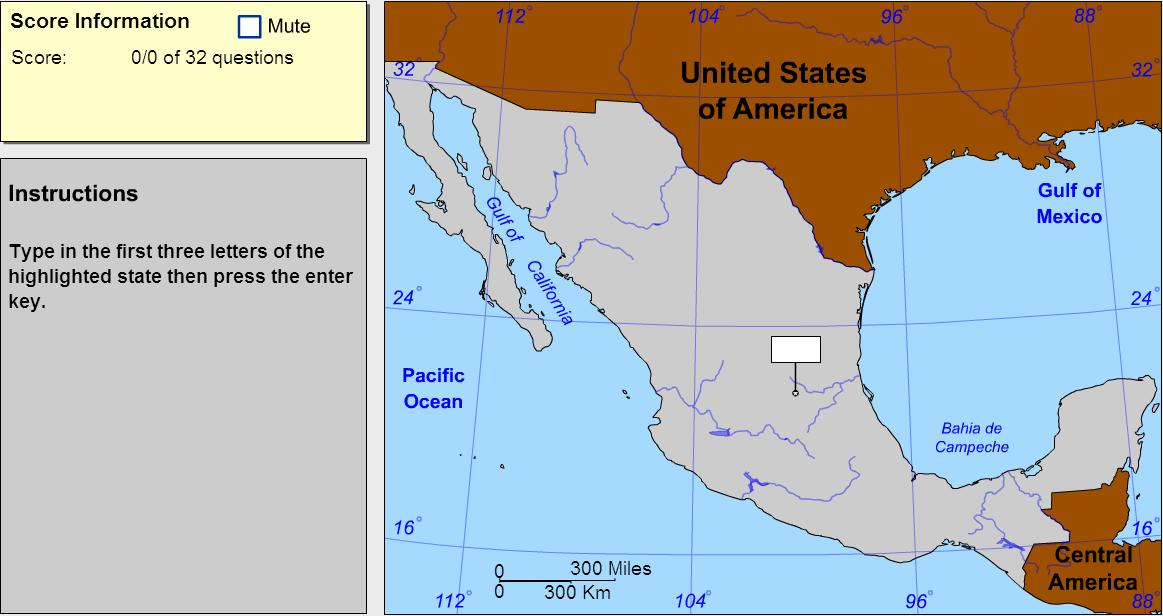 States of Mexico. Explorer. Sheppard Software