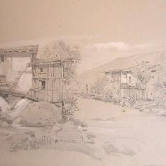 Pueblo con molino