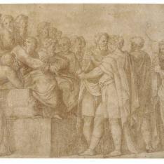 Filósofos y soldados discutiendo