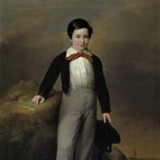 Manuel Flores Calderón, niño