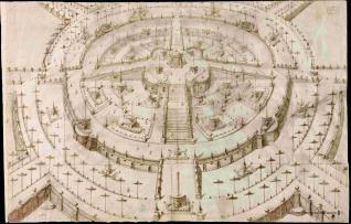 Proyecto de jardín en forma de parterre circular