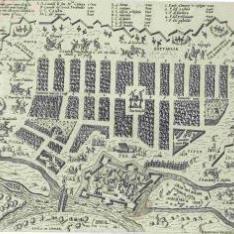 Tochai, fortezza nei confini di Transiluania, et Onghería, Assediato dal campo del Re Ioanne Secondo, eleto d'Ongheria et da Perthau Bassa, del Sign.or turcho l'anno 1566