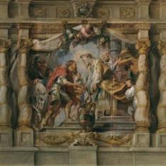 Abraham ofrece el diezmo a Melquisedec