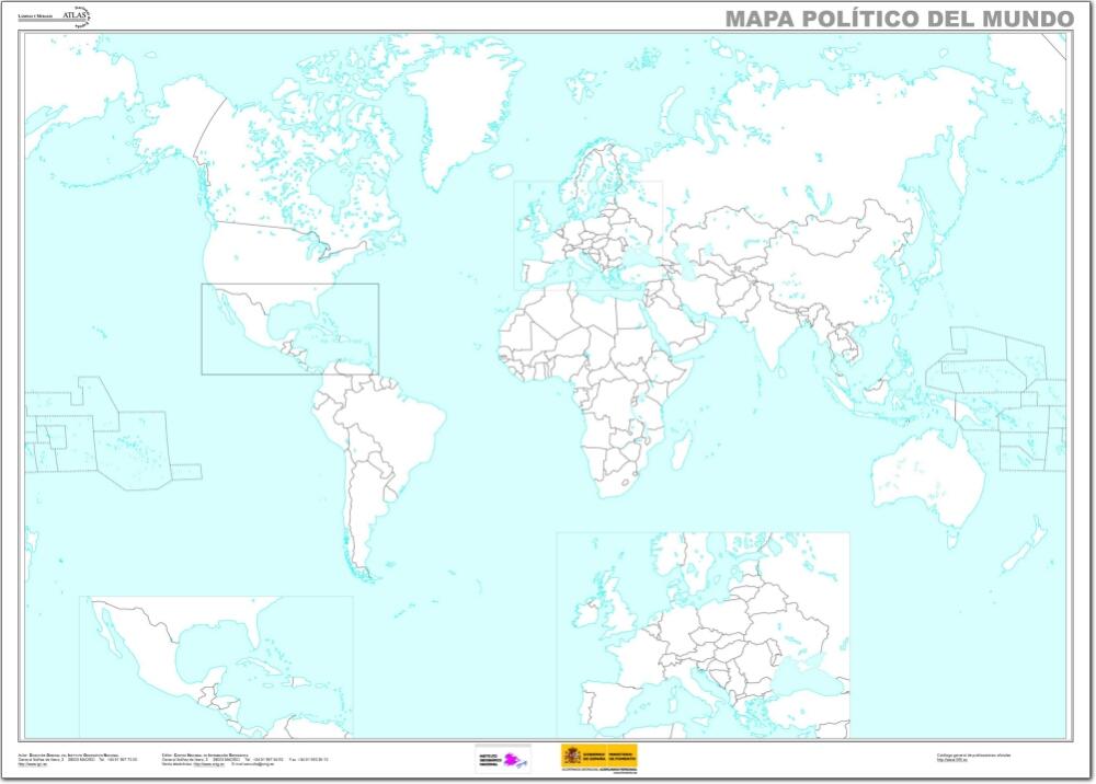 Mapa de países del Mundo. IGN