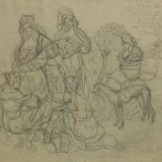 Sin título (Cinco mujeres y un galgo)