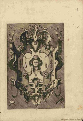 Compertimenta pictoriis flosculis manubiisque bellicis variegata