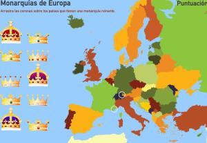 Monarquías de Europa. Toporopa