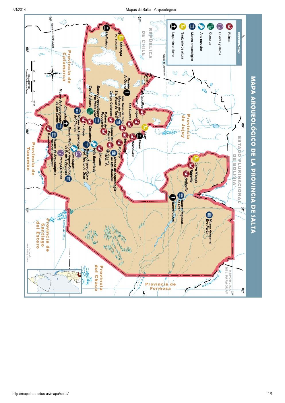 Mapa arqueológico de Salta. Mapoteca de Educ.ar