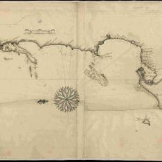 Carta de las costas de Nueva Granada