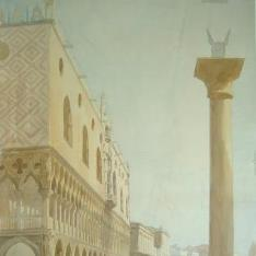 Vista del Palacio Ducal de Venecia