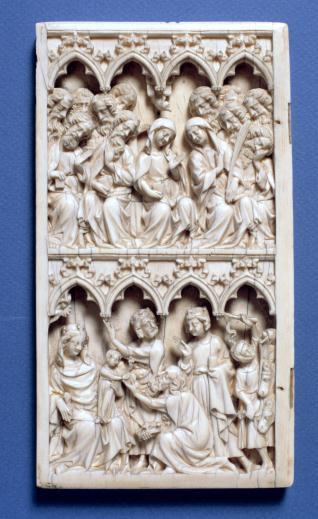 Díptico con escenas de la vida de la Virgen