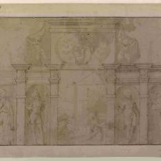 Parte superior de retablo