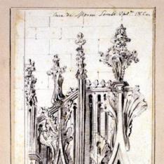 Detalle de portada gótica de la Casa de Mosén Sorell, Valencia