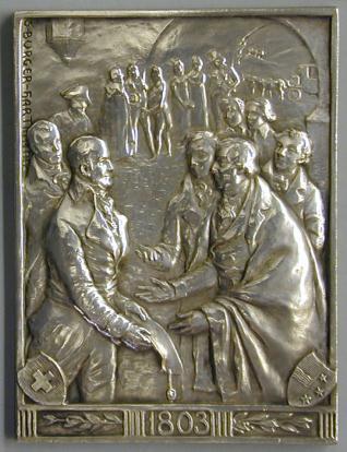 Centenario de la admisión del catón de Aaragau en la Confederación Suiza