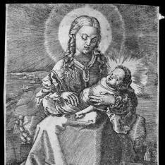 La Virgen con el Niño Jesús en mantillas