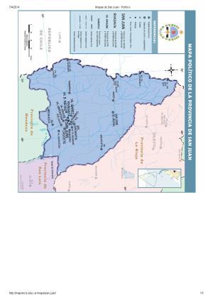 Mapa de capitales de San Juan. Mapoteca de Educ.ar