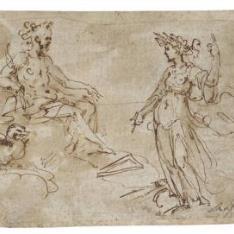 Júpiter y una figura femenina
