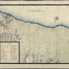 Croquis de la parte de costa comprendida entre la Amella y Hospitalet