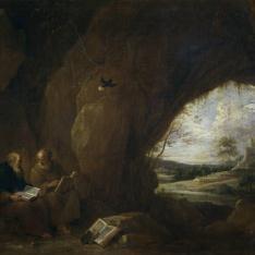 San Pablo, primer ermitaño, y San Antonio Abad