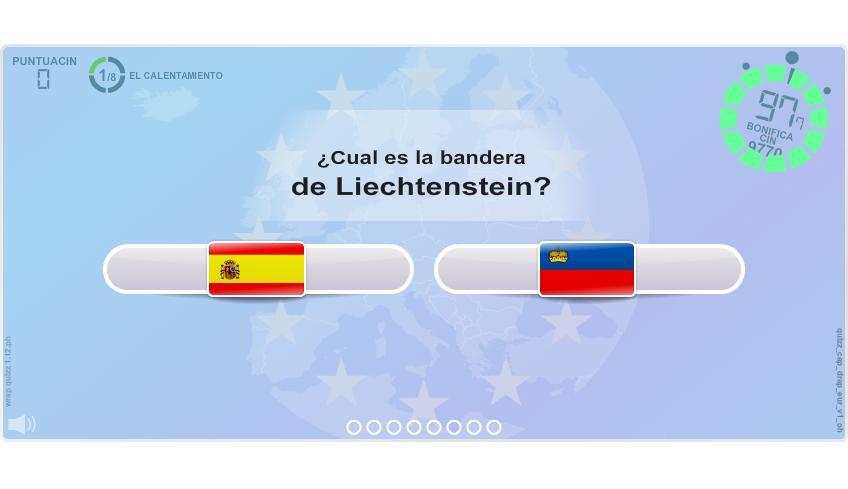Capitales y Banderas de Europa. Juegos Geográficos