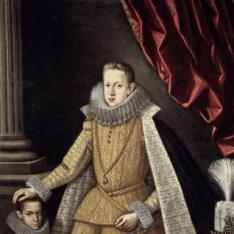 El príncipe Felipe, futuro Felipe IV, y el enano Soplillo