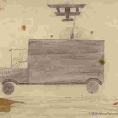 Avión bombardeando camión