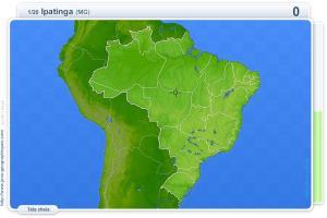 Cidades do Brasil.  Jogos geográficos