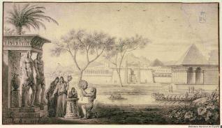 Paisaje a orillas del Nilo