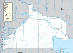 Mapa mudo de Río Negro. IGN de Argentina