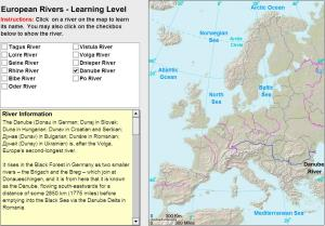 Rivers of Europe. Tutorial. Sheppard Software