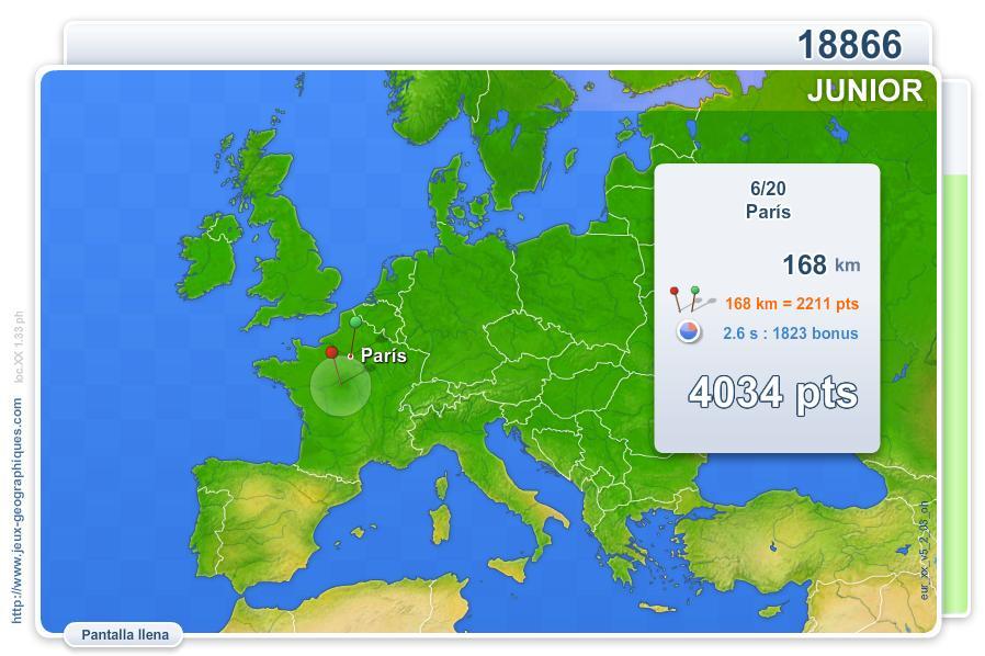 Ciudades de Europa Junior. Juegos Geográficos