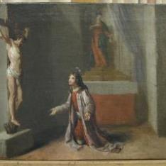 San Francisco orando ante el crucifijo de la ermita de San Damián