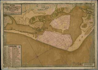 Plano de la Plaça de Cartagena de las Indias