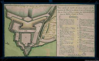 Plano superior del Castillo del Morro