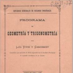 Programa de geometría y trigonometría