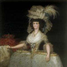 La reina María Luisa con tontillo