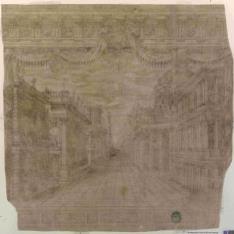 Escena trágica del teatro de la Accademia degli Intrepidi de Ferrara