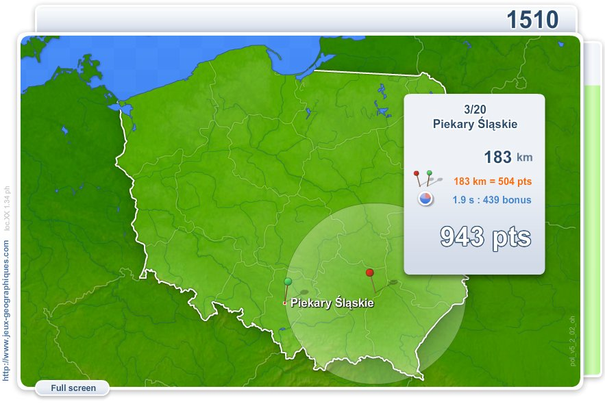 Cities of Poland . Geography map games