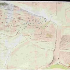 Plano de una zona que podría ser Madrid