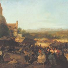 Romería en la ermita de San Isidro