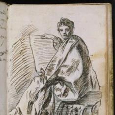 Cuaderno Italiano: Sibila sentada (¿?)