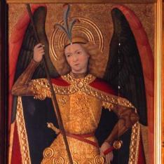 San Miguel Arcángel Con Dos Donantes