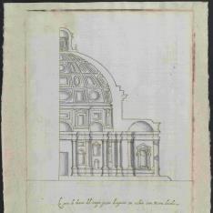 Sección interior de la iglesia de San Giovanni dei Fiorentini, Roma