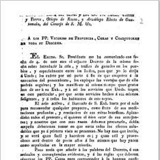 Carta del Ilmo. Sr. ... Fr. Ramón Casaus y Torres... Arzobispo Electo de Guatemala ... a los PP. vicarios de Provincia, curas y coadjutores de toda su diócesis