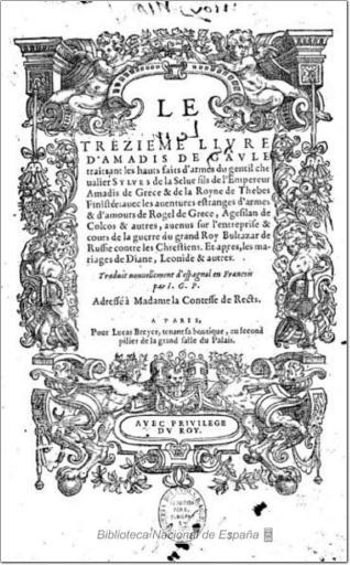 Le trezieme livre d´Amadis de Gaule