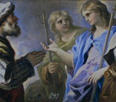 Abraham adorando a los tres ángeles