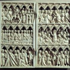 Díptico con escenas de la vida de Jesús