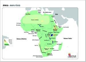Mapa de relieve de África. JCyL