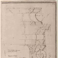 Estudio de chimenea para el Palazzo Massimo alle Colonne de Roma